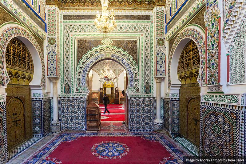 Zaouia Moulay Idriss architecture