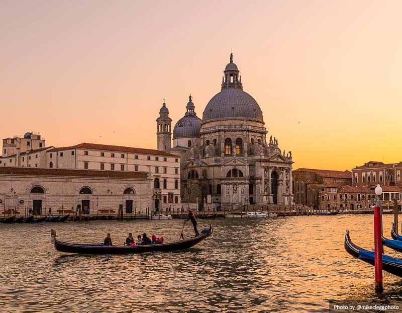 Basilica Santa Maria della Salute at sunset