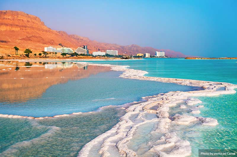 Солёный берег Мёртвого моря, Израиль 15 главных природных чудес 15 главных природных чудес, которые стоит увидеть и посетить Dead sea salt shore Israel