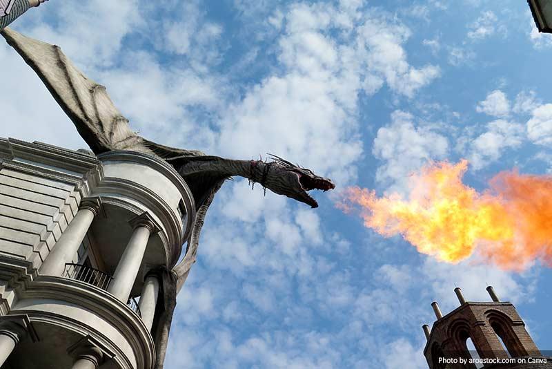 Дракон на Косой Аллее 10 лучших вещей, которые стоит увидеть и сделать в Орландо (США) 10 лучших вещей, которые стоит увидеть и сделать в Орландо (США) Dragon at Diagon Alley