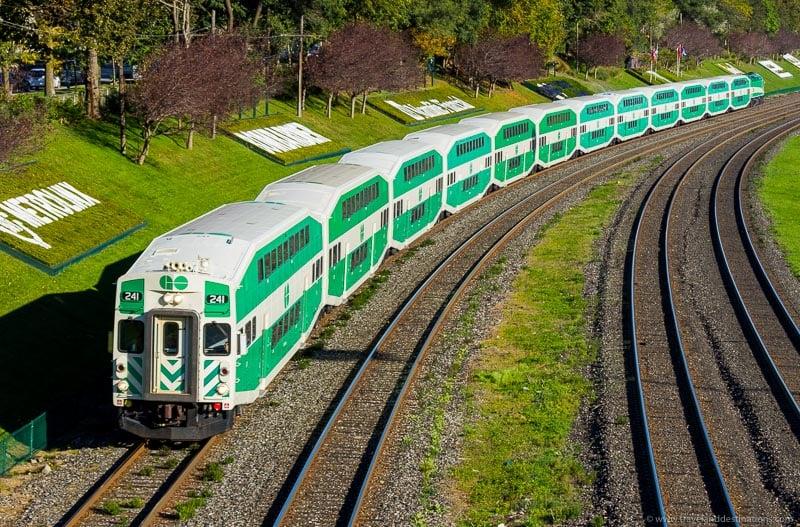 Go Train in Canada