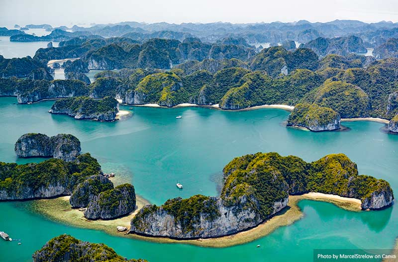 Ha Long Bay aerial view, Vietnam