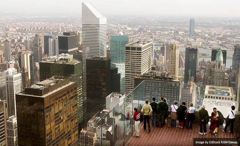 Observation Platform Reopens At Rockerfeller Center