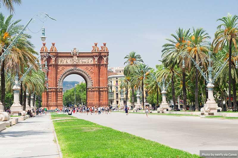 Триумфальная Арка лучшие места в барселоне 15 лучших мест для Instagram и фотографии в Барселоне Arc De Triomph Barcelona