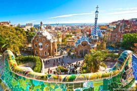 Barcelona Skyline and Park Guell