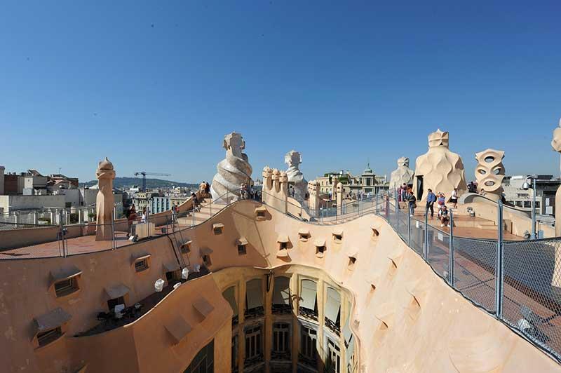 Casa Mila roof