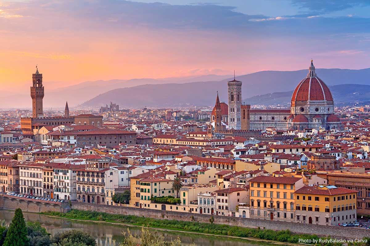 Florence - Skyline at sunset