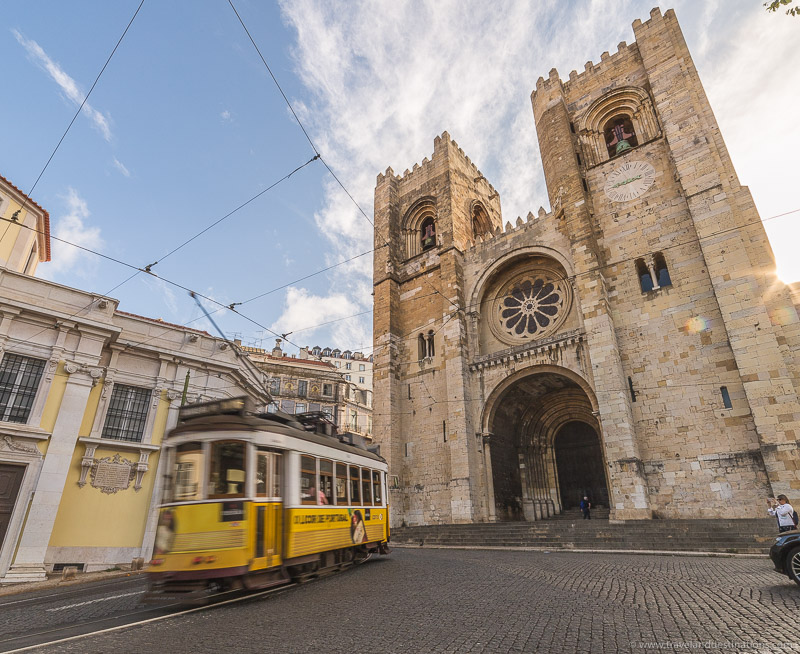 Lisbon Cathedral and Trams
