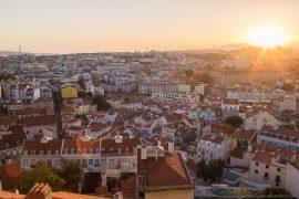 Lisbon Skyline and Sunset