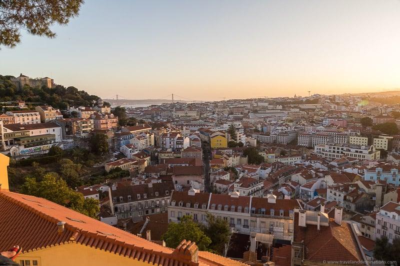 Miradouro da Graça at sunset
