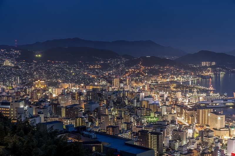 Нагасаки горизонт ночью Япония 10 лучших мест для посещения в Японии Nagasaki skyline at night