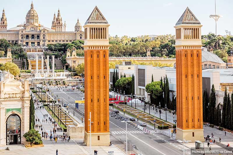 Площадь Испании лучшие места в барселоне 15 лучших мест для Instagram и фотографии в Барселоне Plac CC A7a dEspanya