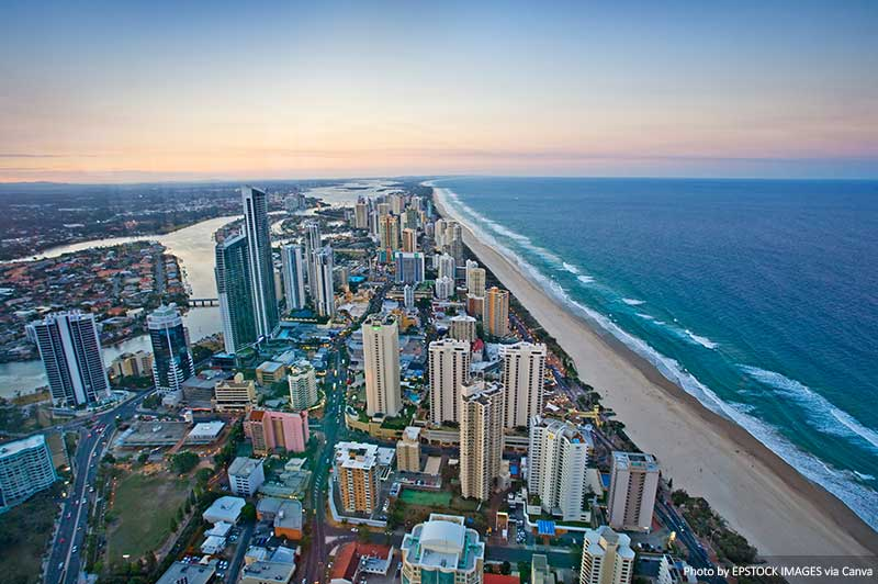 Skyline views in the Gold Coast