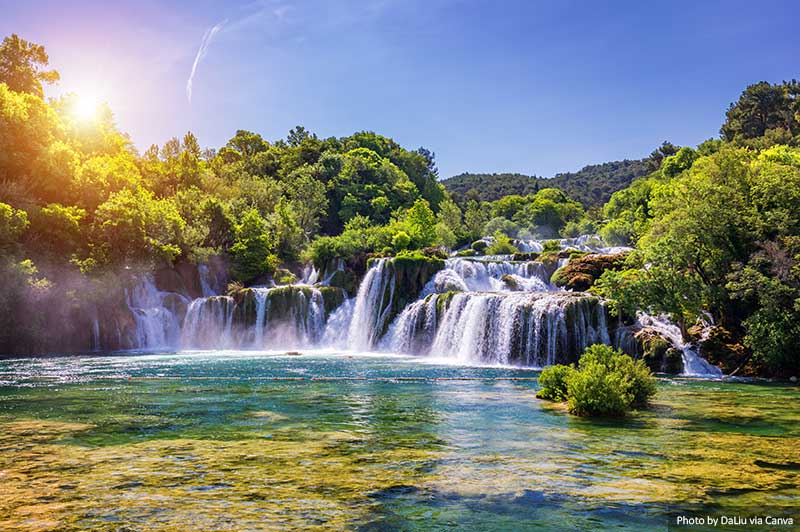 Waterfalls at Krka National Parkl