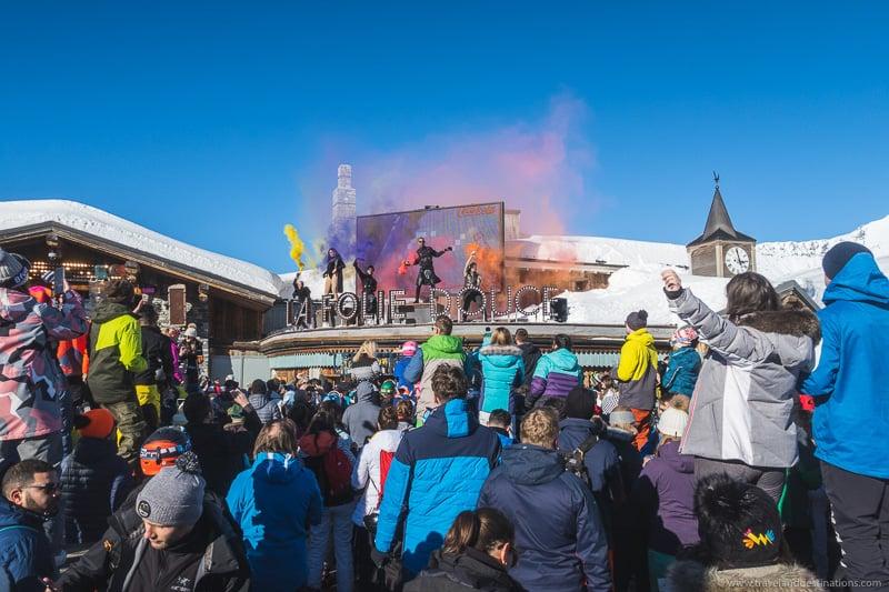 Apres Scenes at Ski Resorts in France