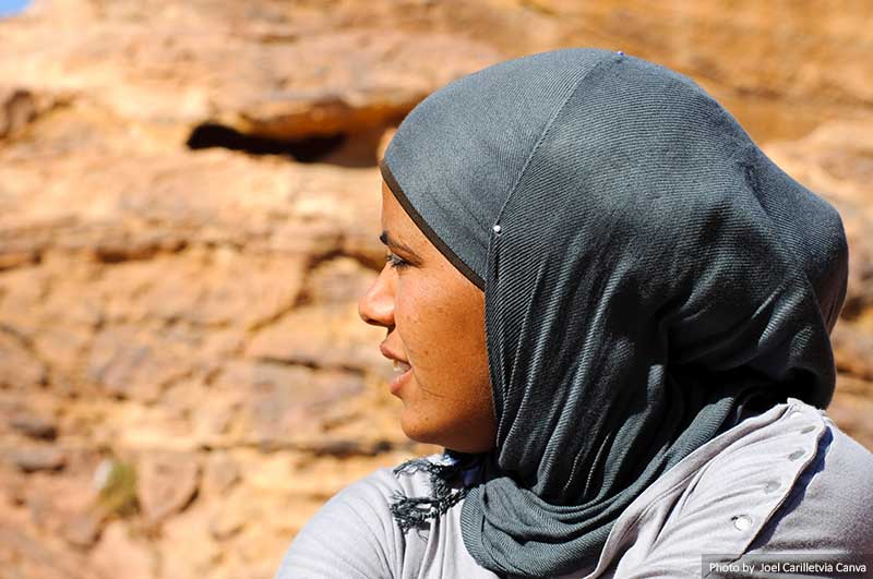 Arab woman with a headscarf
