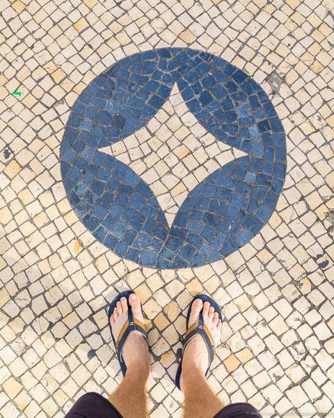 Cobbled pavement in Lisbon