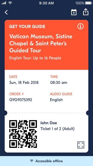 GetYourGuide Ticket