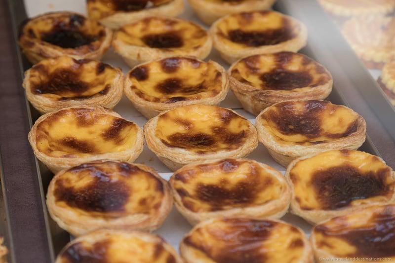 Pastel de nata (custard tarts) in Portugal