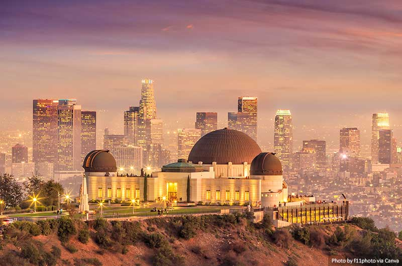 Observatoire Griffith et Los Angeles