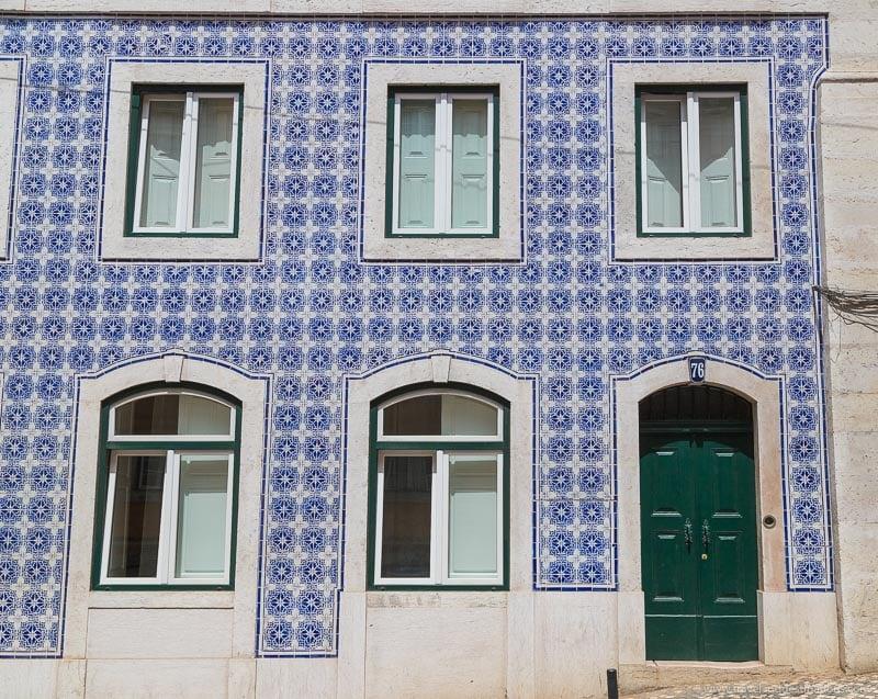 Tiles on facades in Lisbon