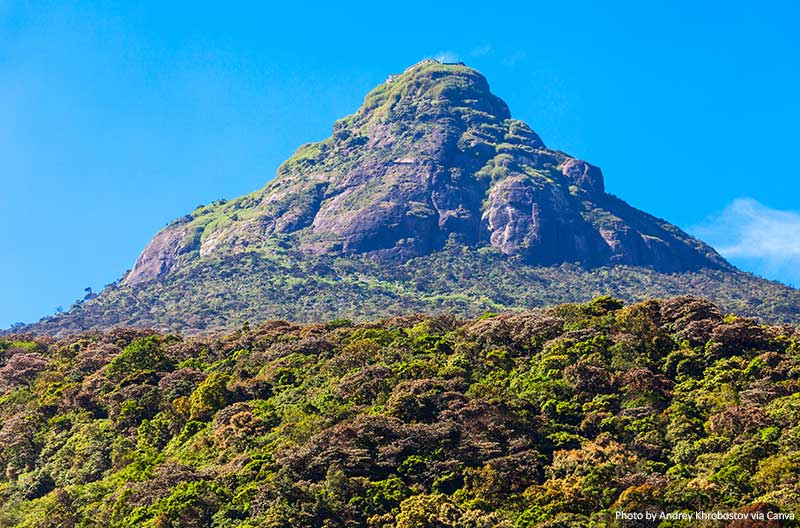 Adams Peak in Sri Lanka