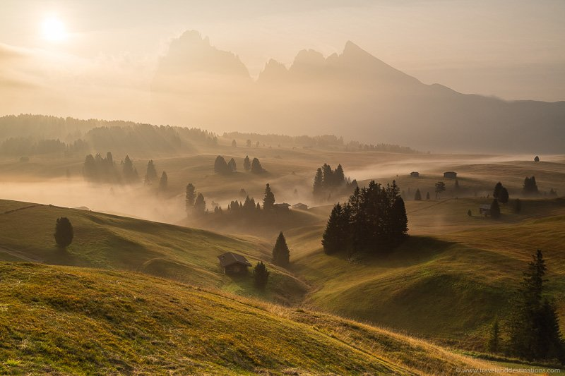 Beautiful landscapes in the Italian Dolomites