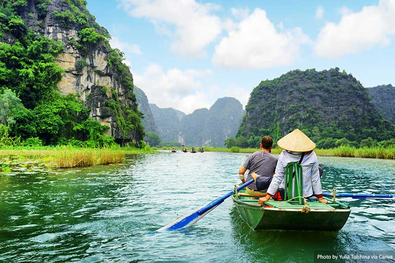 Boats in the Karst Mountains