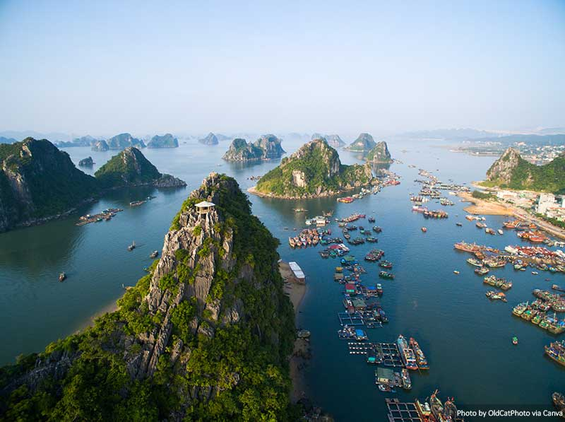 Landscape in Halong bay
