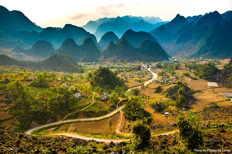 Landscapes in Ha Giang Province