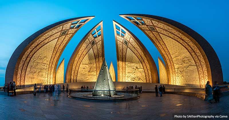 Памятник Пакистану Исламабад Достопримечательности Пакистана
