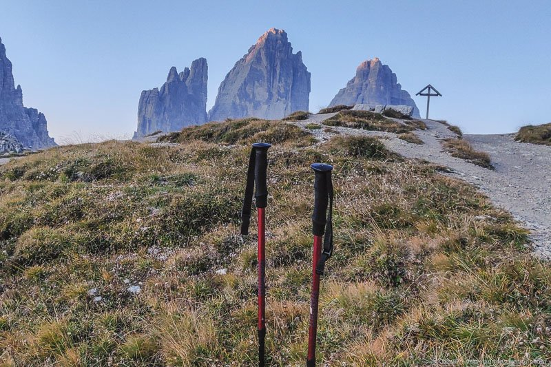 Trekking Poles and the Dolomites