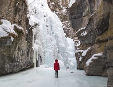 Alberta and frozen Canyons in the winter