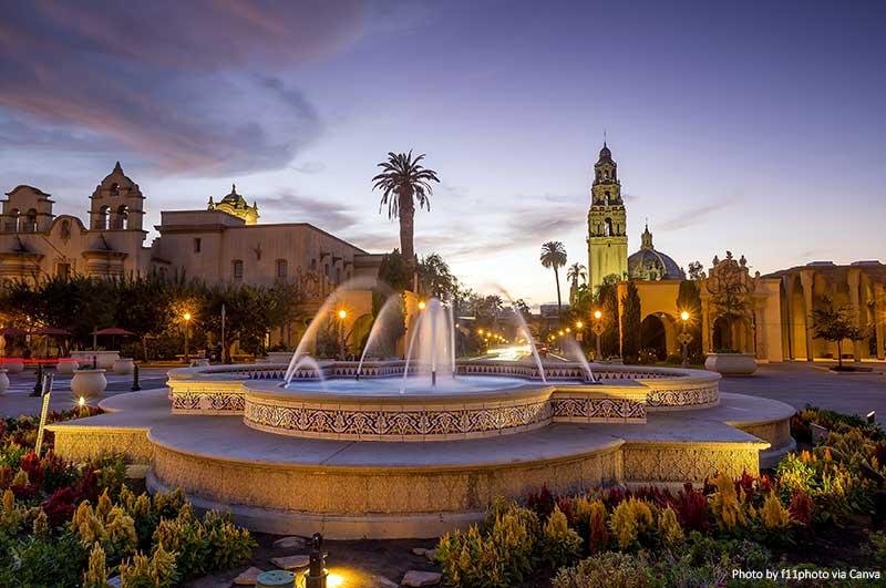 Бальбоа Парк в Сан-Диего Автопутешествие по Калифорнийскому побережью Автопутешествие по Калифорнийскому побережью Balboa Park in San Diego
