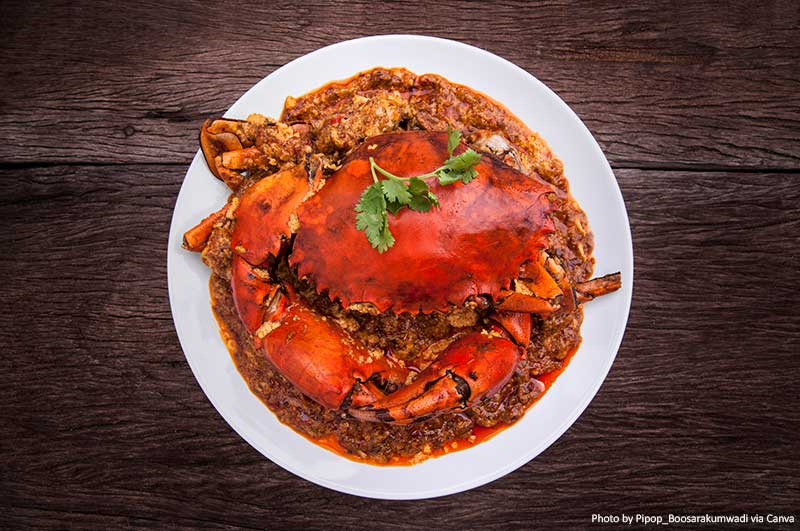 Chilli crab dish