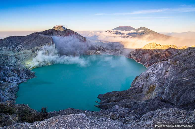 Kawah Ijen volcano and lake