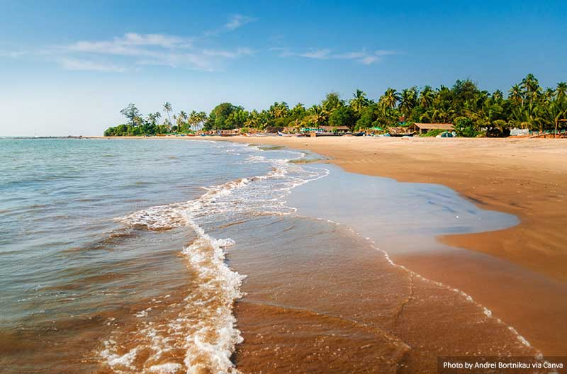 Morjim Beach in Goa India