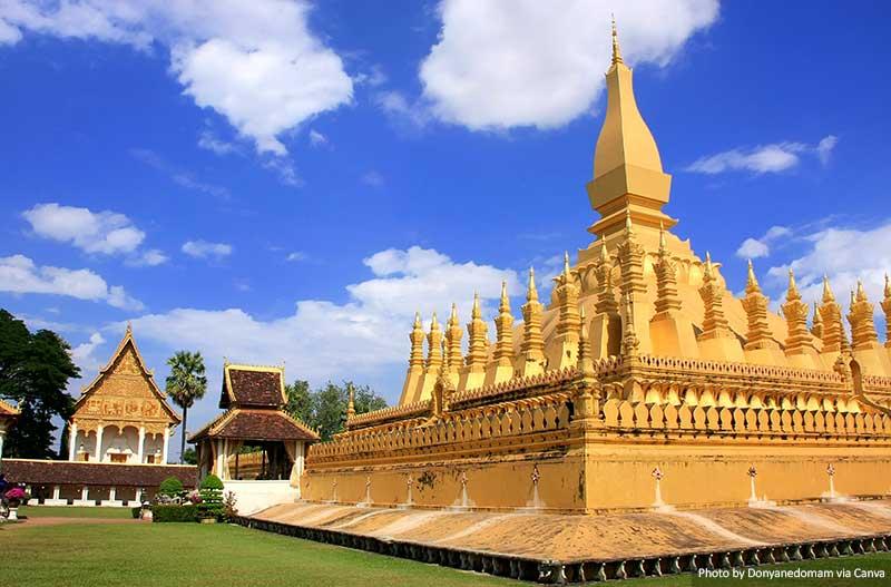 Фа Это ступа Луанг, Вьентьян места в Лаосе 10 лучших и самых красивых мест для посещения в Лаосе Pha That Luang stupa Vientiane Laos