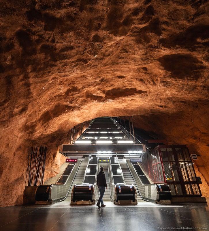 Radhuset metro station in Stockholm