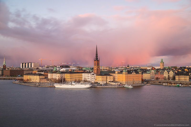 Views of Stockholm and Gamla Stan from Monteliusvagen