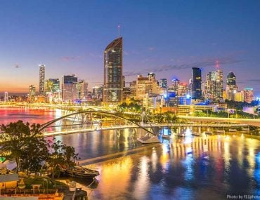 Brisbane skyline at night