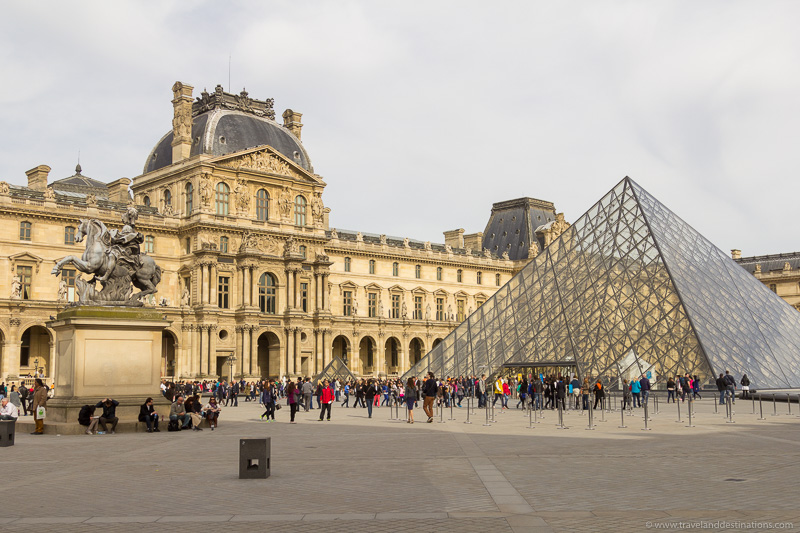 Louvre exterior during the day
