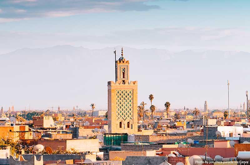 Marrakech old medina city, morocco