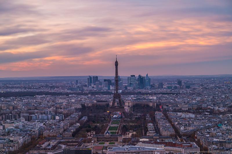 Paris at sunset from Montparnasse