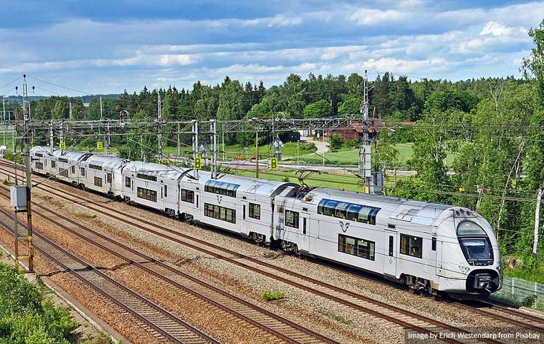 Train in Sweden