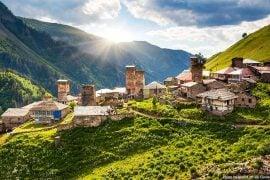 Beautiful landscapes in Georgia