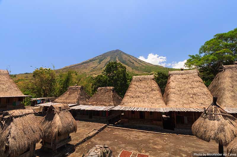 Bena traditional village, near Bajawa, Flores