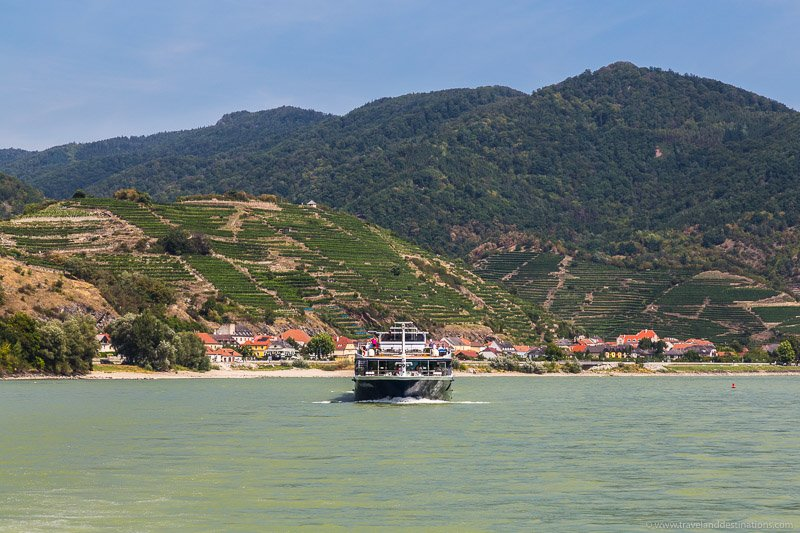 Boats and Wachau Valley