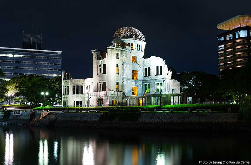 Dome in Hiroshima at Night