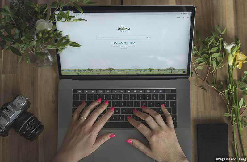 Ecosia on Laptop